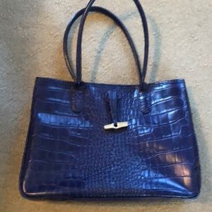 Beautiful leather Longchamp bag